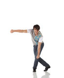 Enige mannelijke tapdanser stock afbeelding