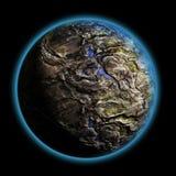 Enige planeet diep in de melkweg Royalty-vrije Stock Afbeelding