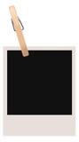 Enige Polaroid- Spatie   stock illustratie