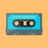 Enige retro muziek compacte cassette stock illustratie
