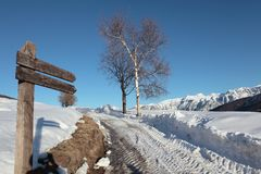Enige steegweg, Trentino Royalty-vrije Stock Afbeeldingen