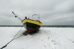 Enige Vissersboot Royalty-vrije Stock Foto