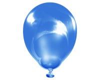 Enige weerspiegelende blauwe ballon Royalty-vrije Stock Afbeeldingen
