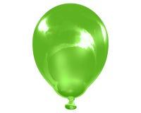 Enige weerspiegelende groene ballon Royalty-vrije Stock Afbeeldingen