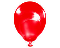Enige weerspiegelende rode ballon Stock Foto