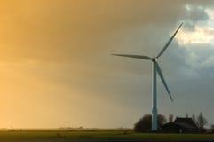 Enige windmolen Stock Foto