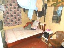 Enige Zaal Slaapkamer Stock Foto