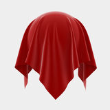 Enigma. 3d illustration of sphere coverered red silk isolated on white background Royalty Free Stock Image