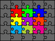 Enigma ilustração stock