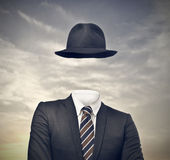 Enigma. Portrait of invisible businessman with hat Stock Photos