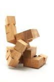 enigma 3D de madeira Fotografia de Stock
