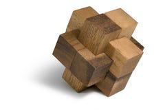 Enigma 3D de madeira Fotos de Stock Royalty Free