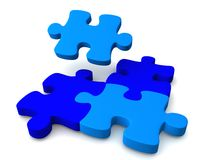 Enigma azul Fotografia de Stock