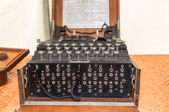 The Enigma Cipher Machine from World War II. The Enigma Cipher Coding Machine from World War II Royalty Free Stock Photos