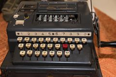 The Enigma Cipher Machine from World War II. The Enigma Cipher Coding Machine from World War II Royalty Free Stock Photography