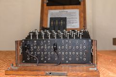 Enigma Cipher maszyna od drugiej wojny światowa obraz stock