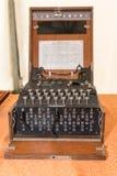 Enigma Cipher maszyna od drugiej wojny światowa fotografia royalty free