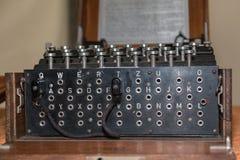 Enigma Cipher maszyna od drugiej wojny światowa zdjęcie royalty free