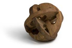 Enigma 3D de madeira Fotos de Stock