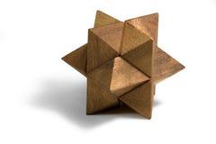 Enigma 3D de madeira Imagens de Stock