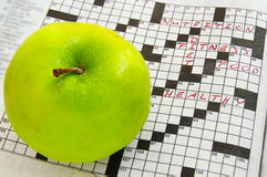 Enigma de Apple Imagens de Stock