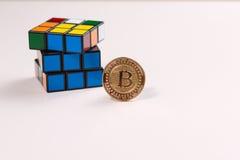 Enigma de Bitcoin Imagens de Stock