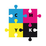 Enigma de CMYK Imagem de Stock Royalty Free