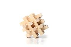 Enigma de madeira Imagem de Stock Royalty Free