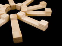 Enigma de madeira Fotografia de Stock Royalty Free