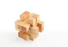 Enigma de madeira Imagens de Stock Royalty Free