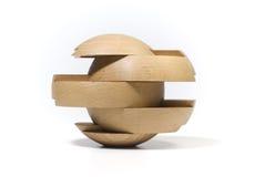 Enigma de madeira imagens de stock