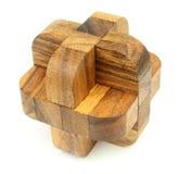 Enigma de madeira Fotos de Stock Royalty Free