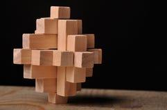 Enigma de madeira Foto de Stock Royalty Free