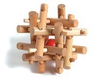 Enigma de madeira Imagem de Stock