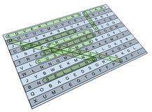 Enigma ?de mercado? de Wordsearch Imagens de Stock
