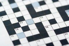 Enigma de palavras cruzadas Imagens de Stock