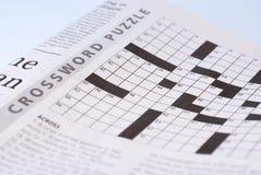 Enigma de palavras cruzadas Fotografia de Stock