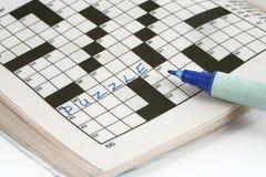 Enigma de palavras cruzadas Imagem de Stock