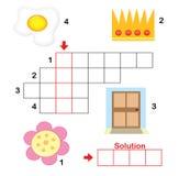Enigma de palavras cruzadas para crianças, parte 2 Fotos de Stock Royalty Free