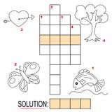 Enigma de palavras cruzadas para miúdos, parte 2 Imagens de Stock
