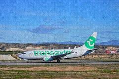 Enigma de serra de vaivém de Transavia imagens de stock