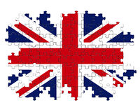 Enigma de serra de vaivém de Union Jack Imagens de Stock Royalty Free