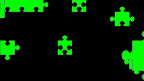 Enigma de serra de vaivém verde animado da tela ilustração do vetor