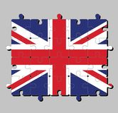 Enigma de serra de vaivém da bandeira de Union Jack, é a bandeira nacional do Reino Unido ilustração do vetor
