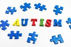 Enigma: dia da conscientização do autismo ou conceito do mês Fotografia de Stock