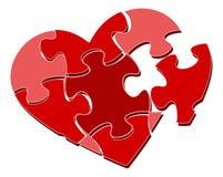 Enigma do coração ilustração royalty free