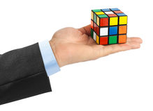 Enigma do cubo disponivel Foto de Stock Royalty Free