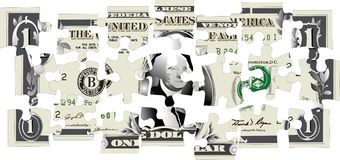 Enigma do dólar Imagem de Stock