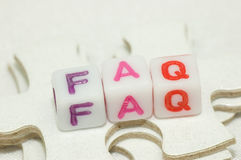 Enigma do FAQ Foto de Stock