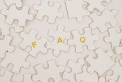 Enigma do FAQ Imagem de Stock